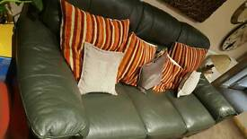 Green Leather Sofa And Sofa bed