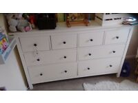 White Ikea Hemnes 8 (eight) drawer chest - excellent condition