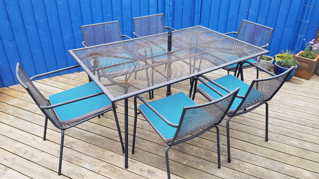 Awe Inspiring Black Grey Metal 6 Seater Garden Patio Outdoor Dining Furniture Set Table Chairs Cushions Rhoose In Barry Vale Of Glamorgan Gumtree Home Interior And Landscaping Oversignezvosmurscom