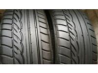 225 45 18 2 x tyres DUNLOP Sp Sport 01 MFS