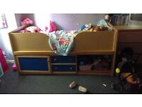 Cabin bed with under bed storage