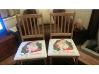 🎄FESTIVE FUN!!!!!🎄- A PAIR OF UPCYCLED DINING CHAIRS
