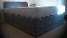 DOUBLE BED with John Lewis ORTHOPAEDIC mattress