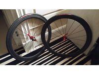 Full Carbon Road Bike Wheels + Tyres