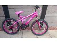 "Girls Ospry Spike pink 20"" 6 speed mountain bike"