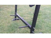 Dumbbell barbell rack