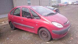 2002 CITOREN XSARA PICASSO LX, 2LT HDI, BREAKING FOR PARTS ONLY, POSTAGE AVAILABLE NATIONWIDE