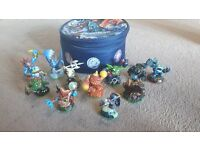 Skylanders Figures and Carry Case