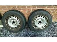 "2 14"" steel wheels for Renault Kangoo"