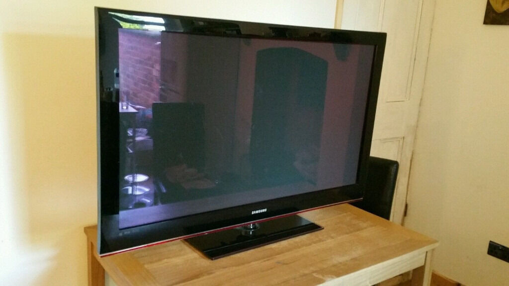 samsung 50 inch plasma tv ps50b530s2w in leicester leicestershire gumtree. Black Bedroom Furniture Sets. Home Design Ideas