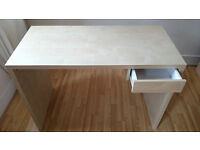 Ikea Desk with drawer in very good condition (birch veneer, 105x50x75cm)