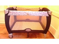 Used Graco Contour Electra Travel Cot, good condition