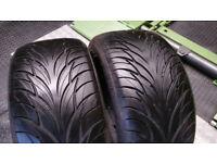245 40 17 2 x tyres Federal Super Steel 595