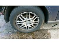 4 x 195/60/15 alloys and tyres