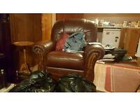 Italian leather electric recliner