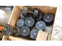 Set cast dumbells 30kg - 50kg rack only £375. This is over 450kg in weight