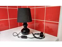 Bedside black lamp