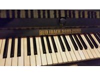 Rud ibach upright black working piano.