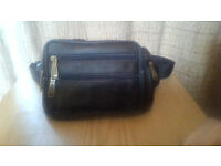 LEATHER (brown) bum bag