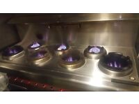chinese/Thai 7 Burner Wok Cooker
