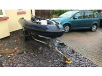 4m RIB with 25hp outboard and trailer