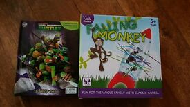 Brand new turtles busy book and falling monkey game