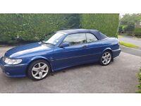 2002 saab 9-3 turbo se convertible-LOW MILEAGE - garaged all year - 6 months MOT