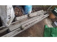 6 Concrete fence posts