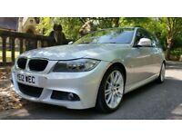 2012 BMW 318D M SPORT TOURING 123000 MILES 2 FORMER KEEPER IDRIVE BIG SATNAV £30 YEAR ROAD TAX 320D