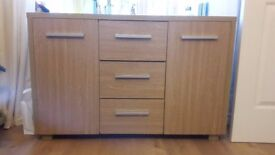 Oak effect sideboard £60