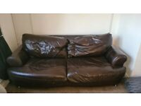 2 seater sofa, Cuddle chair and foot stool