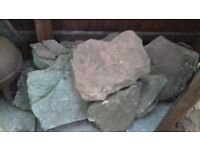 Various sizes and shaped rockery stones