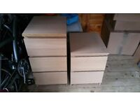 3 + 2 chest of drawers bedside cabinet set