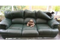 Free to collect leather sofa and electronic reciner chair