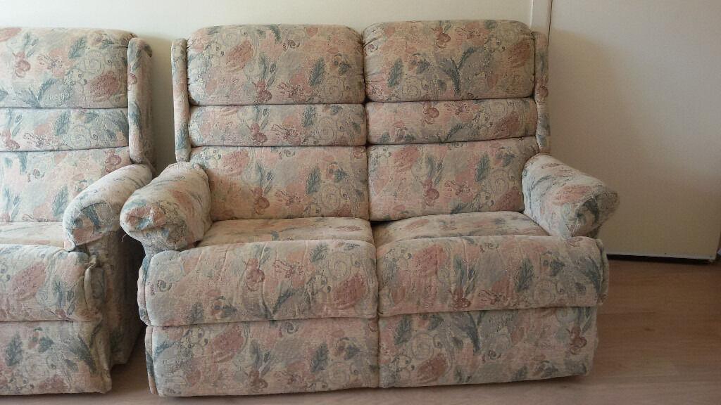 Bargain - two matching fabric sofas