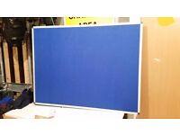 120 x 90 Aluminium Finish Felt Blue Board