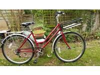 Raleigh Richmond Ladies Town Bike, 7 Gears, Dutch Basket, Mudguards, Rear Rack, Stand, New Tyres.