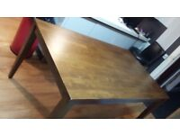 Solid Oak dark Made In Malaysia original dining table and 4 dining chairs see all pictures