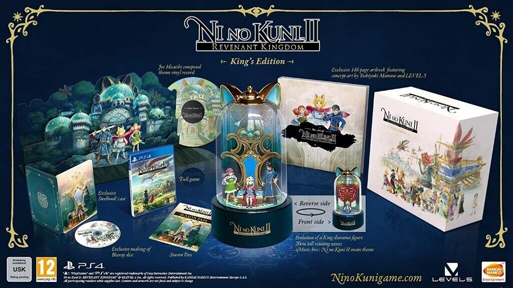 Ni No Kuni 2 II King's Collector's Edition Sony Playstation 4 PS4 Game +  Season Pass + More RARE NEW   in Beeston, Nottinghamshire   Gumtree