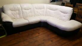 Leather dfs sofa