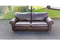 Barker & stonehouse leather sofa.