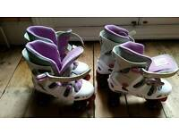 Two pairs of roller skates