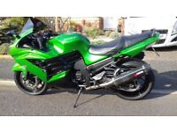 Kawasaki ZZR 1400. 1 owner, summer use only, touring miles, full history