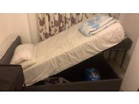 Single John Lewis Ottoman bed (excellent condition) with mattress