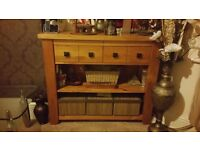 Rustic Oak Sideboard Bookcase from Next