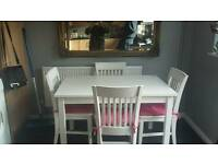 Ikea pine table and 4 chairs