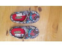 TU Spiderman design slippers, 10-11 child size