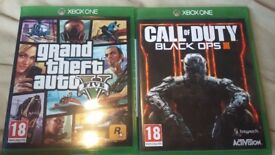 GTA 5 and Black ops 3 for XBOX ONE!