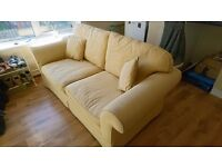 Laura Ashley sofa two seater. £50 is the asking price it's a golden colour.