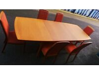 Excellent Condition Teak Extendable Table With Chairs,Can Deliver